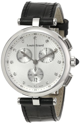 Louis Erard Women's 12820AA11.BDCC5 Romance Analog Display Quartz Black Watch