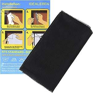 idealeben insektenschutz fliegengitter mit klettband f r fenster 1 3 k che. Black Bedroom Furniture Sets. Home Design Ideas