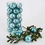 Weihnachtskugel Premium 30er Set Glas 6cm aqua blau Xmas