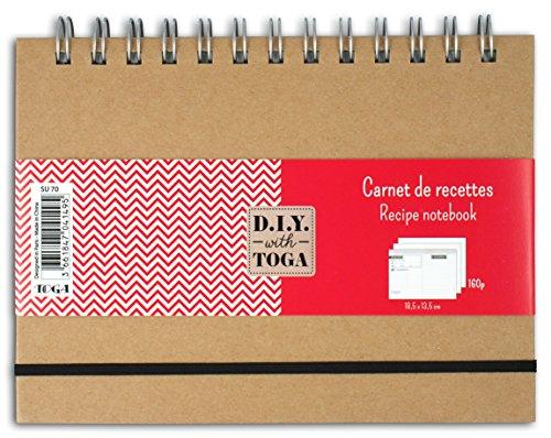D.I.Y with Toga su70cuaderno de recetas papel Kraft 18.5x 13.5x 2cm