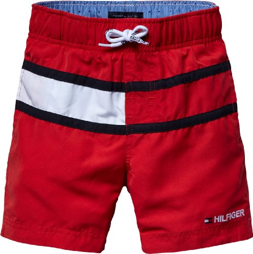 Tommy Hilfiger E557112044 - Bañador para niño, Color Formula One, Talla 128 8