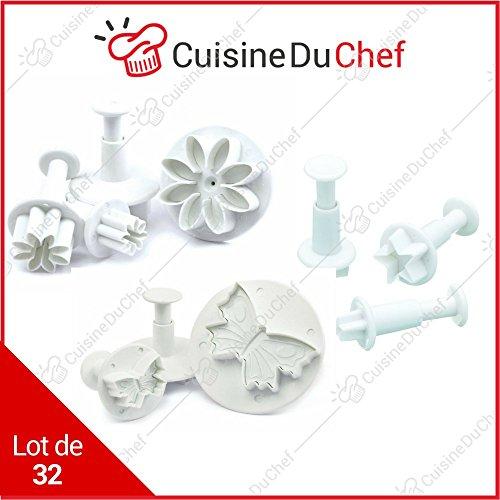 ✮ CuisineDuChef ✮ Empreintes à pâtisserie | Lot de 32 | Emporte-pièces pochoirs idéaux pour...