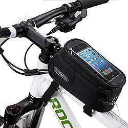 DCCN Fahrrad Rahmentasche Oberrohrtasche MTB Fahrradtasche Handy Tasche (passend bis zu 5,5 Zoll) mit klaren PVC-Schirm (Type1)