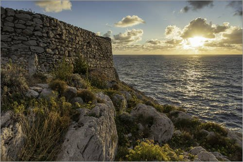 poster-120-x-80-cm-sunset-at-cala-del-rio-on-capri-italy-by-christian-muringer-high-quality-art-prin
