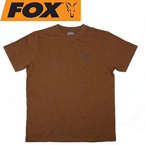 Fox Chunk Classic Orange Marl Tshirt - Angelshirt, T-Shirt für Angler, Anglershirt, Tshirt zum Angeln im Sommer, Größe:M