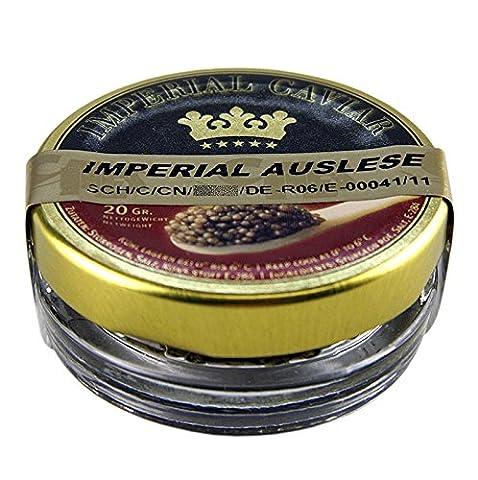 Imperial Auslese Kaviar, Kreuzung Amur x Beluga Stör (schrenckii x dau), China, 20g