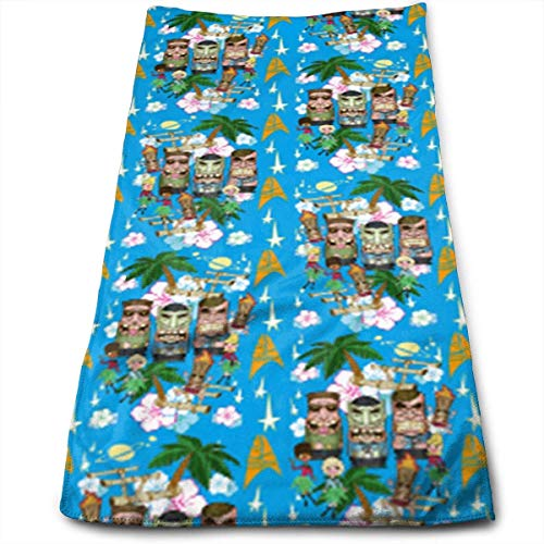 WTZYXS Hand Towels Tiki Trek Blue Face Towels Highly Absorbent Towels for Face Gym and Spa 12