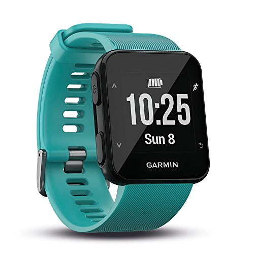 Garmin Forerunner 30 GPS Running Watch with Wrist Heart Rate, Turquoise