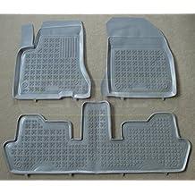 ZentimeX Pie de goma alfombras alfombrillas de goma esterillas para Citroen C4 Grand Picasso 10.2006 de