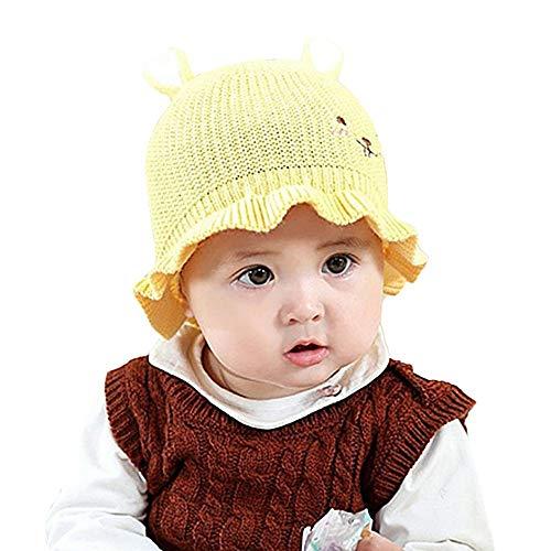 Chapeau BéBé ADESHOP Mode BéBé Pliable 2-12 Mois Enfants Tricot Chapeau  Chapeau De PêCheur c51682ceec2