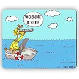 Die Viecher - Wochenende in Sicht - (24x19cm) Mousepad Mauspad lustig Cartoon Comic Spruch, Geschenk Arbeitskollege Arbeitskollegin Neuer Job Arbeitsplatz Mousepad für Laptop, Büro Geschenk