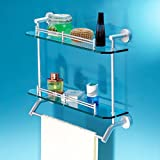 MENA HOME/ Space Aluminium Badezimmer Racks Badezimmer Wand Glas Multifunktions WC Waschbecken Double - Regal