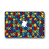 coloré sensibilisation à l'autisme pièces de puzzle décoratifs Tapis de sol en caoutchouc antidérapant Paillasson Paillasson, 59,9x 39,9cm