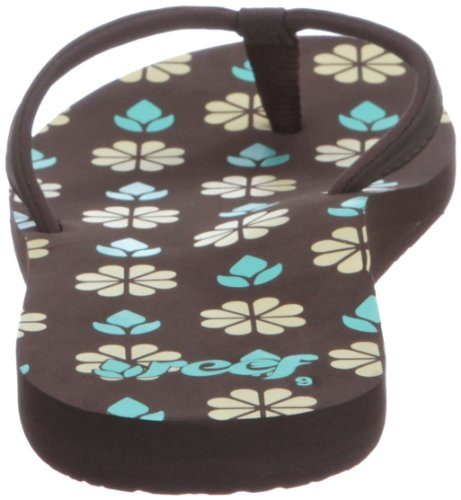 Reef SHORE-T R1549BUY, Infradito donna Marrone (Braun (BROWN/TURQUOISE/YELLOW))