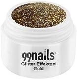 99nails Glitter Effektgel - Gold, 1er Pack (1 x 5 ml)
