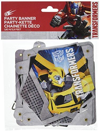 Amscan Transformers Partykette Girlande Geburtstag Kindergeburtstag Party Kette ()