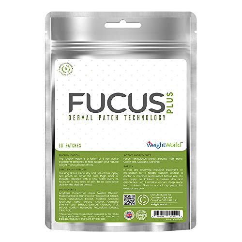 Fucus + Slimming Patch | Abnehm-Pflaster zur Förderung der Fett-Verbrennung, Stoffwechsel-Anregung und Förderung des Abnehmens | Natürlicher Fat burner mit Acai, Fucus und Grünem Tee | Optimale Gesundheit und Schönheit (Schnell Einfach Patch)