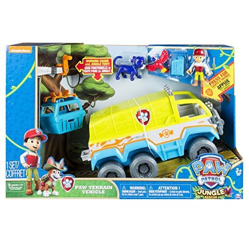 Paw Patrol- Jungle Rescue Veicolo Fuoristrada della Giungla, Multicolore, 6032668