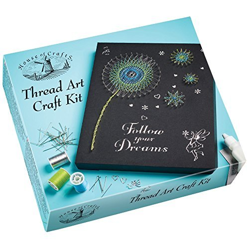 House of Crafts Thread Art Craft Kit! Children & Adult Craft Therapy