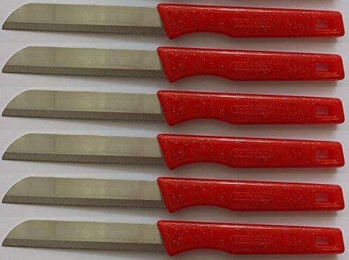 Solingen/ Made in Germany/ Gemüsemesser Obstmesser Schälmesser Allzweckmesser/ durch speziellen Zackenschlief nie stumpf/ extrem scharf / Messerset 6-teilig/ aus rostfreiem Edelstahl