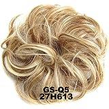 Extensiones de pelo rizado rizado, UxradG natural, rizado, ondulado, para mujeres, coleta, extensiones de pelo, donut, accesorios para el pelo