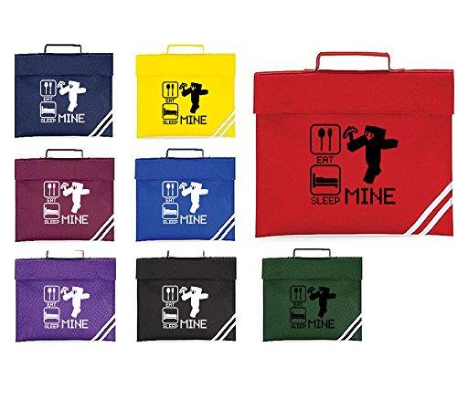 Eat Sleep Mine, simpatica borsa a valigetta per bambini, ragazzi e ragazze, capacità: 5litri Royal