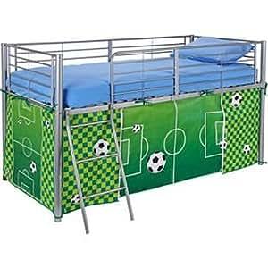 football tente pour lit mezzanine pour chambre d 39 enfant vert rangement pour jouets pour jeux. Black Bedroom Furniture Sets. Home Design Ideas