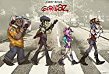 NewBrightBase Gorillaz Music Band Group Stoff Wand Poster Gerollt Print –-Größe: (91,4x 61cm/50,8x 33cm) 36