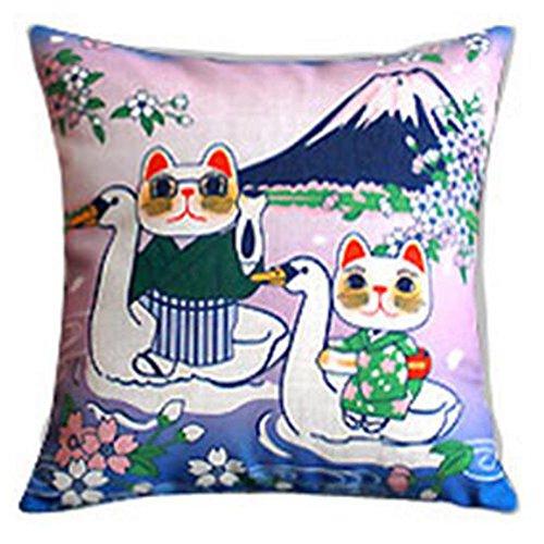 Black Temptation Style Japonais Coussin d'oreiller Confortable pour la Maison/Sushi Restaurant 45x45cm -A15