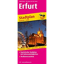 Erfurt: Touristischer Stadtplan mit Sehenswürdigkeiten und Straßenverzeichnis. 1:16000 (Stadtplan / SP)