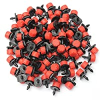 KAMIERFA 100adet plastik ayarlanabilir Micro Tropfbewaesserung sulama Alet Anti-Clogging emetör, damla
