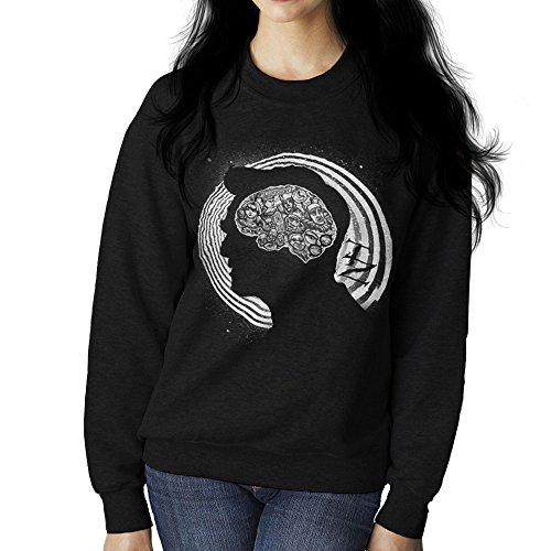 Dimension Of Mind Twilight Zone Womens Sweatshirt Black
