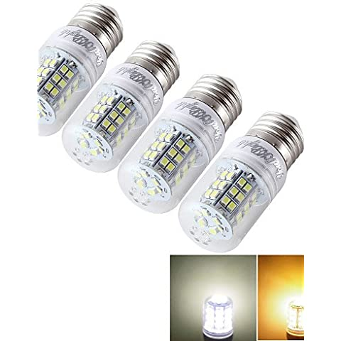 YangR* 4PCS E14/E27 7W 600lm >80 3000K/6000K 48 *2835 SMD LED lampadina di mais (AC/DC9-30V/AC85-265V) , bianco fresco-85-265v