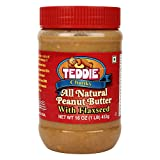 Teddie All Natural Peanut Butter with Flaxseed Chunky, 450g