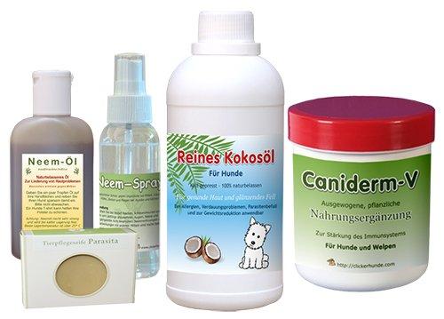 Neemöl + Kokosnuss, für Hunde, Hautset, bei Milben, Allergien, Ekzemen und anderen Hunde -Hautkrankheiten
