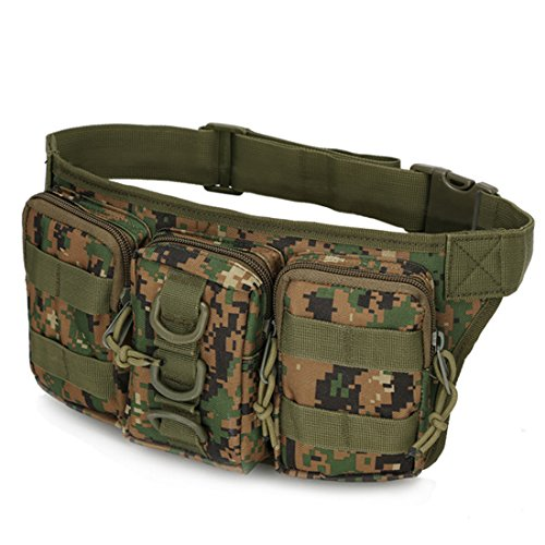 A-szcxtop Multifunktions Tactical Toolkit mit 3verbunden Taschen Taille Pack für Outdoor Sports, Laufen, Wandern, Klettern, Camping und CS Jungle digital