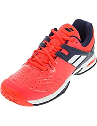 Babolat propulse All Court Zapatillas de tenis para niños, neonrot / dunkelblau, 2 UK - 34 EU