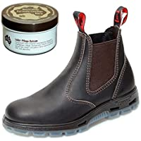 Redback UBOK Work Boots aus Australien - Unisex + 250 ml Lederpflege   Claret Brown