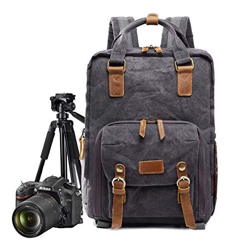 AHWZ Kamera Taschenlampen Camera Backpack Camera Bag Insert, Batik Waterproof Canvas Box Laptop Backpack,Gray (Camera Bag Insert Für Rucksack)