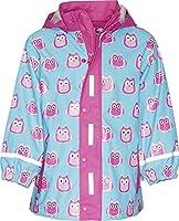Playshoes Girl's Regenjacke Eulen Raincoat, Turquoise (t??rkis), 140