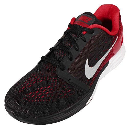 Nike Jungen Lunarglide 7 (Gs) Laufschuhe Schwarz / Silber / Weiß (Schwarz / Silber-Anthrct Mtllc-Wht)