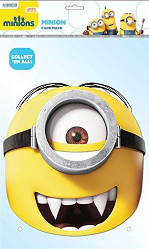 Gru Me Despicable Kostüm Aus - Close Up Despicable Me Party-Maske Minion Gone Batty