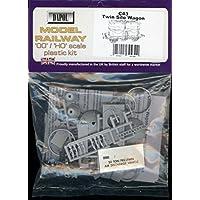 Dapol Model Railway Twin Silo Waggon Plastic Kit - OO Scale 1/76