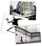 Banksy Graffiti Street Art/Arte Callejero Set de Pósters I (59cm x 42cm)
