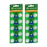 MovilCom - 20 Pilas botón AG4 Pila Reloj 1.5V Equivalente a 377, 377A, LR626, V377, 377S, D377, SR626SW, SR66, SR626, S626E, SR628SW, LR626SW, SR66SW, SR625SW