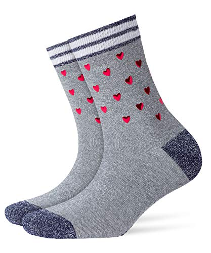 Burlington Damen Valentines Rock Socken, Blickdicht, Grau, 36-41