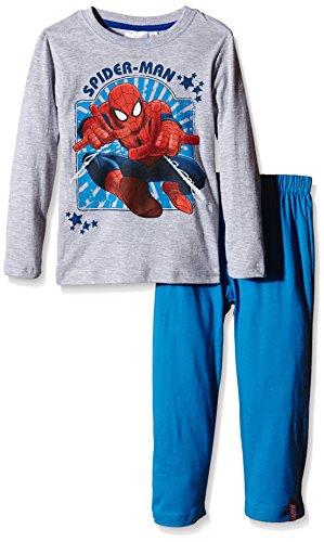Marvel Jungen Zweiteiliger Schlafanzug Gr. 122, Grau - Grau