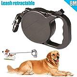 MAyouth Hundehalsband Lead Retractable, 8m / 26ft Automatischer ausziehbarer Hund/Haustier 40 kg, Einziehbare Welpen-Haustierleine Hundeleine für Hunde zum Training, Laufen, Joggen