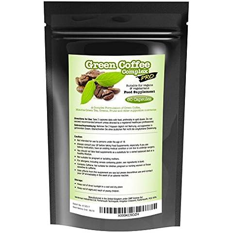 Complejo PRO de café verde para la pérdida de peso - 60 cápsulas - Mezcla fuerte de café verde