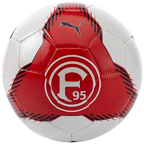 Puma Pallone Da Calcio Fortuna Düsseldorf, Rosso (Red/Black/White), Taglia Unica